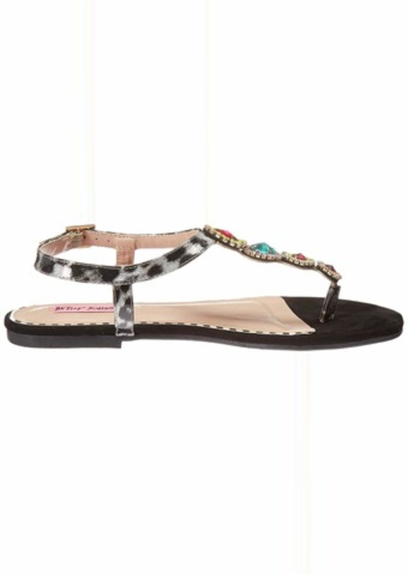 Betsey Johnson Women's GLOWW Flat Sandal   M US
