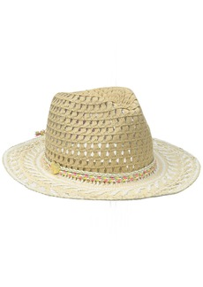 Betsey Johnson Women's Golden Hour Panama Hat