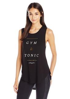 Betsey Johnson Women's Gym and Tonic Viscose Sidecut Tank