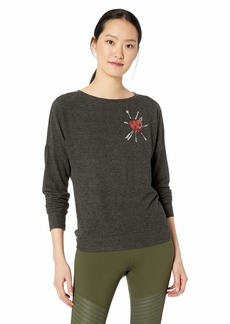 Betsey Johnson Women's Heart Arrows Drop Shoulder Long Sleeve