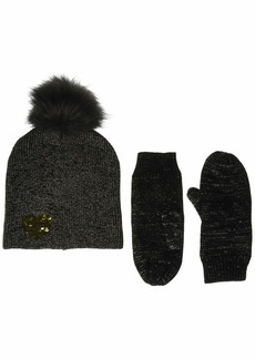 Betsey Johnson Women's Heart Hat Glove 2 Piece Set  ONE Size