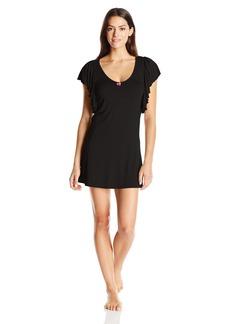 Betsey Johnson Women's Heather Rayon Span Ruffle Sleepshirt