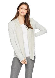 Betsey Johnson Women's Hooded Drape Open Jacket  XL