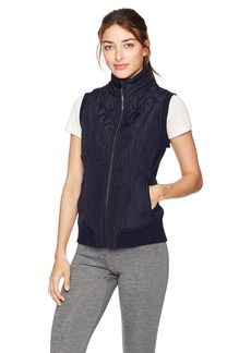 Betsey Johnson Women's Hybrid Rib Trim Quilt Vest  M