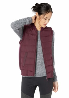 Betsey Johnson Women's HYBRID RIB TRIM QUILT VEST    SMALL