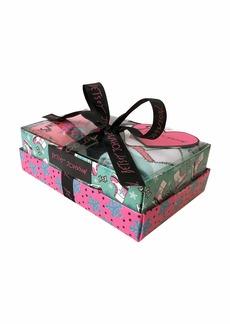 Betsey Johnson Women's Iceskate Solid and Snowflake Crew Gift Box BJ42282