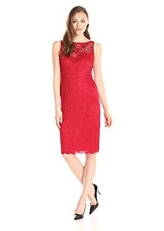 Betsey Johnson Women's Illusion Lace Sheath Dress