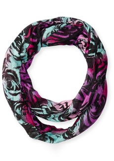 Betsey Johnson Women's Jitterbug Rose Bright Floral Infinity Scarf