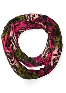 Betsey Johnson Women's Jitterbug Rose Bright Floral Infinity Scarf