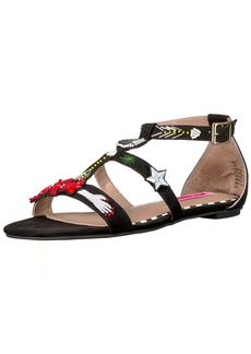 Betsey Johnson Women's Jossy Flat Sandal  9 M US