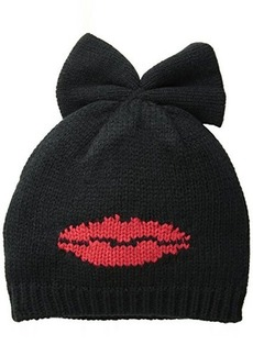 Betsey Johnson Women's Kiss and Tell Bow Beanie Hat