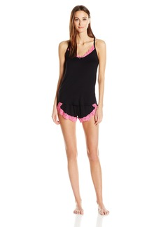 Betsey Johnson Women's Knit and Lace Short Set  M