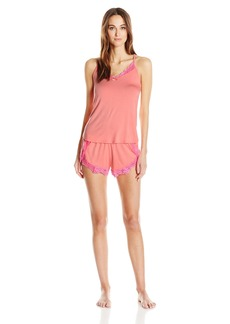 Betsey Johnson Women's Knit and Lace Short Set  S