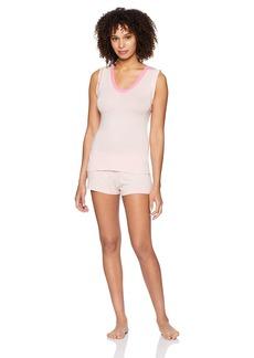 Betsey Johnson Women's Knit Shorty Pajama Set  L