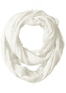 Betsey Johnson Women's Lace Border Loop Scarf