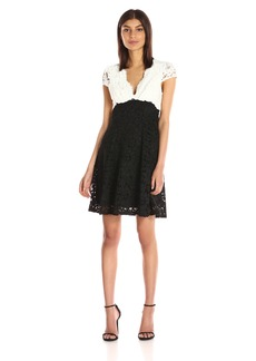 Betsey Johnson Women's Lace Fit and Flare Dress