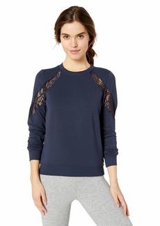 Betsey Johnson Women's Lace Insert Sweatshirt