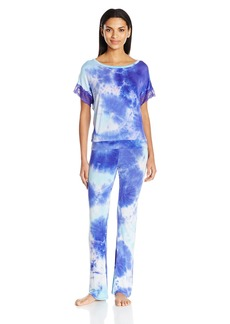 Betsey Johnson Women's Tie-Dye Lace Pajama Set  L
