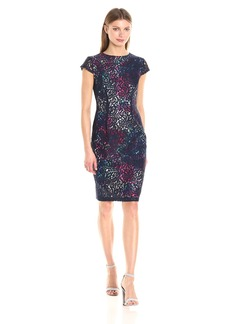 Betsey Johnson Women's Lace Sheath Dress with Floral Lining