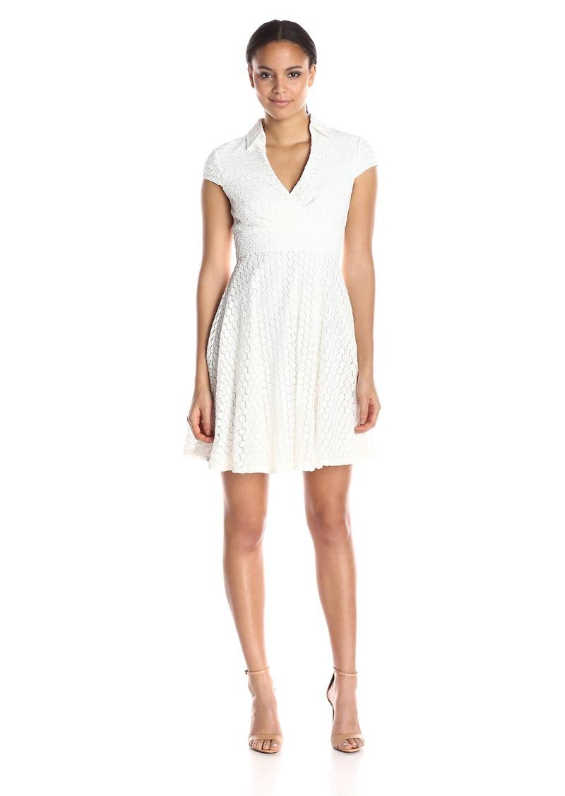 Betsey Johnson Women's Lace Surplus Top Shirt Dress