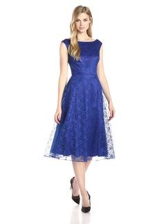 Betsey Johnson Women's Lace Tea Length Dress