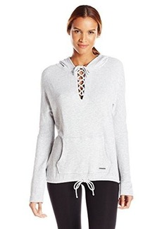 Betsey Johnson Women's Lace up Hoodie