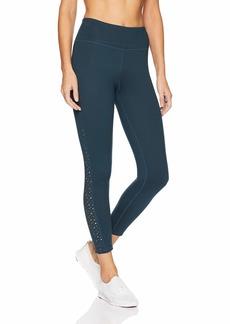 Betsey Johnson Women's Laser Cut Insert 7/8 Legging  Extra Large