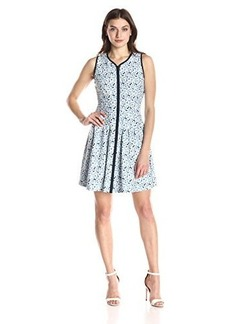 Betsey Johnson Women's Laser Cut Zip Front Dress