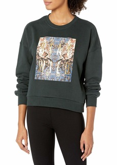 Betsey Johnson Women's Leopard Scroll Stay Wild Sweatshirt