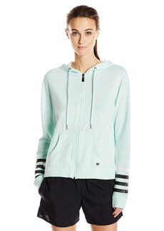 Betsey Johnson Women's Logo Stripe Icy Wash Jacket  XL