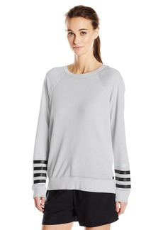 Betsey Johnson Women's Logo Stripe Icy Wash Pullover  L