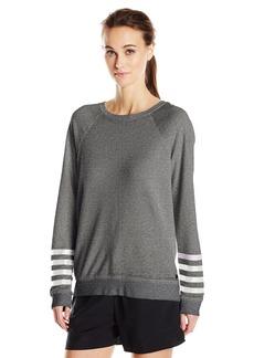Betsey Johnson Women's Logo Stripe Icy Wash Pullover  M
