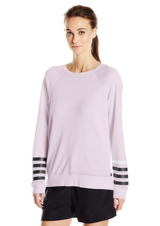 Betsey Johnson Women's Logo Stripe Icy Wash Pullover  M