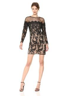 Betsey Johnson Women's Long Sleeve Lace Dress