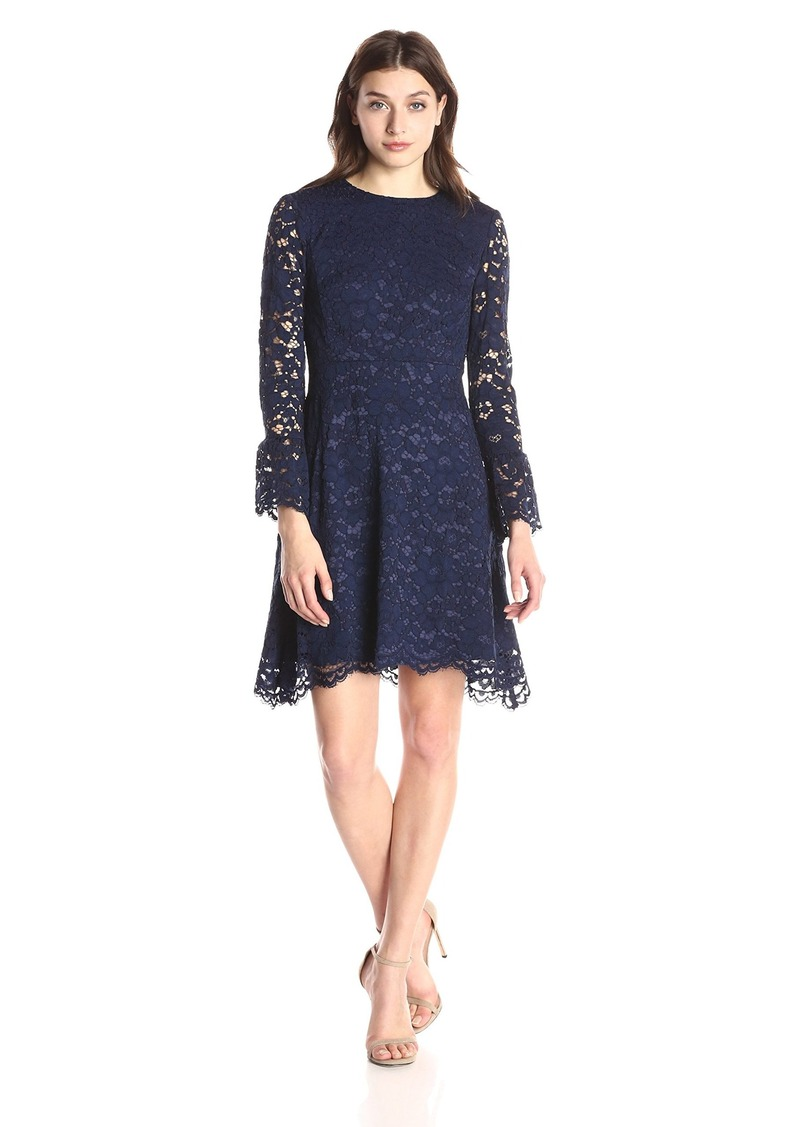 Betsey Johnson Women's Long Sleeve Lace Dress
