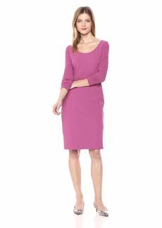 Betsey Johnson Women's Long Sleeve Scuba Crepe Midi Dress