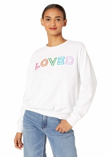 Betsey Johnson Women's Loved Threaded Embroidery Sweatshirt