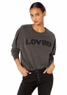Betsey Johnson Women's Loved Threaded Embroidery Sweatshirt  Extra Small