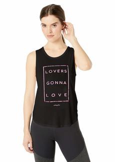 Betsey Johnson Women's Lovers Gonna Love Scallop Hem Tank