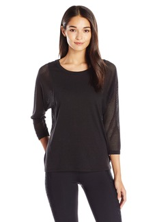 Betsey Johnson Women's Mesh Batwing Pullover