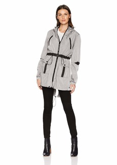 Betsey Johnson Women's MESH DETAIL PARKA  SMALL