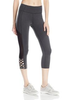 Betsey Johnson Women's Mesh Insert Cutout Crop Legging  S