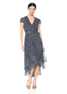 Betsey Johnson Women's Metallic Dot Wrap Dress