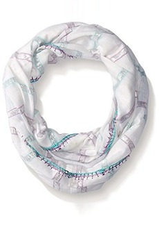 Betsey Johnson Women's Metallic with Color Stripe Infinity Scarf