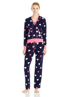 Betsey Johnson Women's Microfleece Hoodie Pj