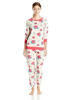 Betsey Johnson Women's Microfleece Slouchy Pajama Set