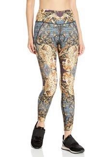 Betsey Johnson Women's Mirrored Print High Rise Ankle Legging  Extra Small