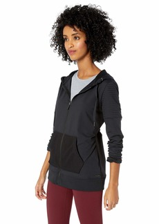 Betsey Johnson Women's MOTO DETAIL HOODIE    EXTRA LARGE
