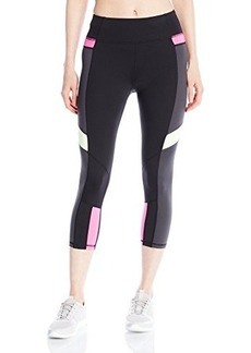 Betsey Johnson Women's Multi Colorblock Crop Legging
