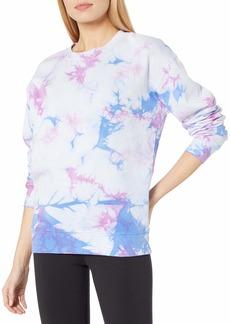 Betsey Johnson Women's Multi Tie Dye Oversized Sweatshirt  M